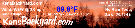 KensBackYard.com Weather in Fremont, NH